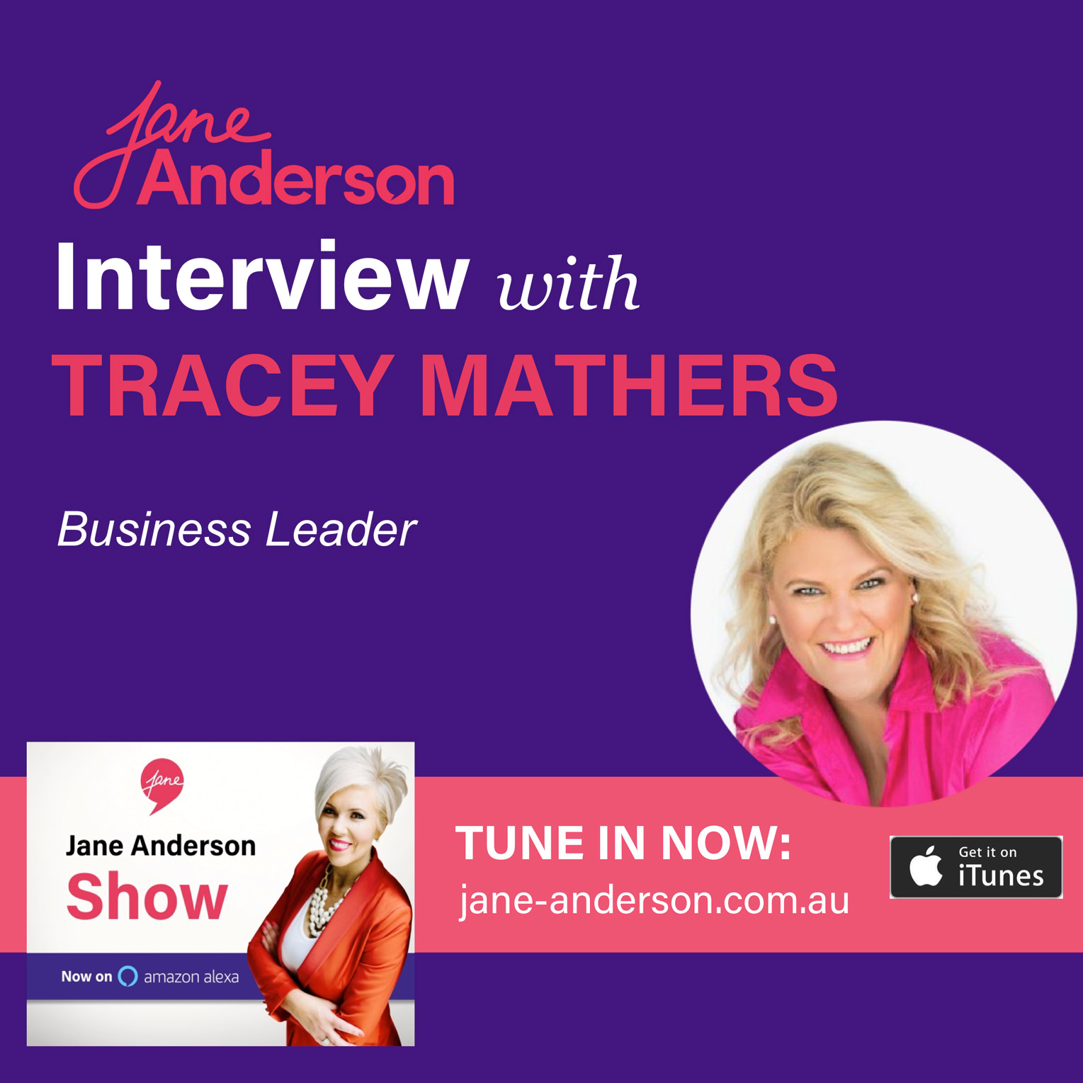 Podcast image Tracey Mathers